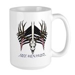Free men hunt Large Mug
