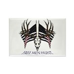 Free men hunt Rectangle Magnet (100 pack)