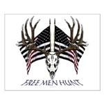 Free men hunt Small Poster