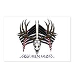 Free men hunt Postcards (Package of 8)