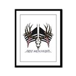 Free men hunt Framed Panel Print