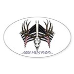 Free men hunt Sticker (Oval 50 pk)