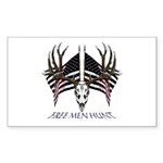 Free men hunt Sticker (Rectangle 50 pk)