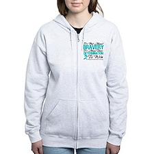 Bravery Ovarian Cancer Zip Hoodie