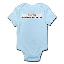 I Love Alaskan Malamute Infant Creeper