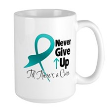 Never Give Up Ovarian Cancer Mug
