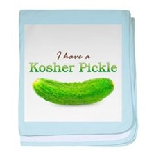 I have a Kosher Pickle baby blanket