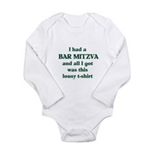 Jewish - Bar Mitzvah Gift - Long Sleeve Infant Bod