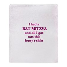 Jewish - Bat Mitzvah Gift - Throw Blanket