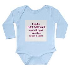 Jewish - Bat Mitzvah Gift - Long Sleeve Infant Bod