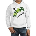 Geocacher Shamrocks Hooded Sweatshirt