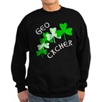 Geocacher Shamrocks Sweatshirt (dark)