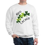 Geocacher Shamrocks Sweatshirt