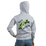 Geocacher Shamrocks Women's Zip Hoodie