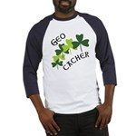 Geocacher Shamrocks Baseball Jersey