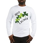 Geocacher Shamrocks Long Sleeve T-Shirt