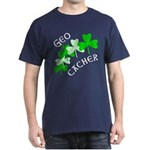 Geocacher Shamrocks Dark T-Shirt