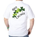 Geocacher Shamrocks Golf Shirt