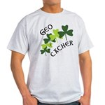 Geocacher Shamrocks Light T-Shirt