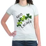 Geocacher Shamrocks Jr. Ringer T-Shirt