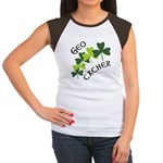 Geocacher Shamrocks Women's Cap Sleeve T-Shirt