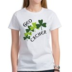 Geocacher Shamrocks Women's T-Shirt