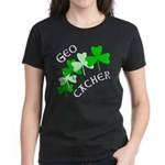 Geocacher Shamrocks Women's Dark T-Shirt