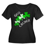 Geocacher Shamrocks Women's Plus Size Scoop Neck D