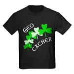 Geocacher Shamrocks Kids Dark T-Shirt