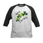 Geocacher Shamrocks Kids Baseball Jersey
