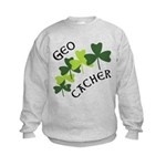 Geocacher Shamrocks Kids Sweatshirt
