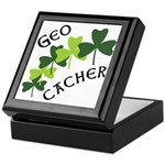 Geocacher Shamrocks Keepsake Box
