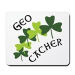 Geocacher Shamrocks Mousepad