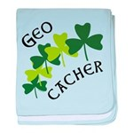 Geocacher Shamrocks baby blanket