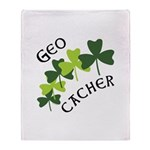 Geocacher Shamrocks Throw Blanket