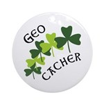 Geocacher Shamrocks Ornament (Round)