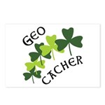 Geocacher Shamrocks Postcards (Package of 8)