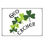 Geocacher Shamrocks Banner