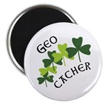 Geocacher Shamrocks Magnet