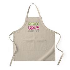Peace Love Sweet Peas Apron