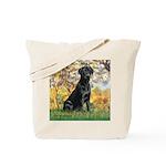 Spring & Black Lab Tote Bag