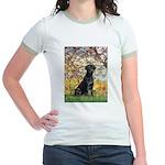 Spring & Black Lab Jr. Ringer T-Shirt