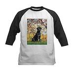 Spring & Black Lab Kids Baseball Jersey