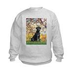 Spring & Black Lab Kids Sweatshirt