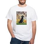 Spring & Black Lab White T-Shirt