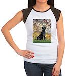 Spring & Black Lab Women's Cap Sleeve T-Shirt