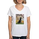Spring & Black Lab Women's V-Neck T-Shirt