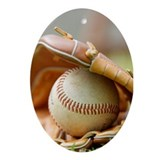 Baseball Ornament (Oval)