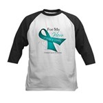 For My Hero Ovarian Cancer Kids Baseball Jersey