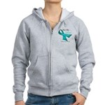 For My Hero Ovarian Cancer Women's Zip Hoodie